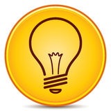 Light Bulb Icon. Vector Light Bulb Icon Matte Button. EPS10 Royalty Free Stock Photography