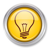 Light Bulb Icon Stock Photo