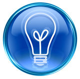 Light Bulb Icon blue Royalty Free Stock Images