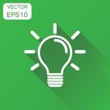 Light bulb icon. Business concept idea lightbulb pictogram. Vect Royalty Free Stock Photo