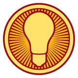 Light bulb Icon Stock Images