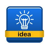 Light bulb icon button royalty free stock image