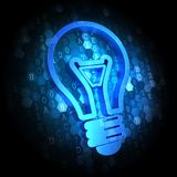 Light Bulb Icon on Digital Background. Royalty Free Stock Photos