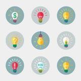 Light bulb icon. Stock Photo