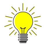Light bulb icon Idea on white background. stock illustration