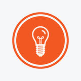 Light bulb icon. Lamp E14 screw socket symbol. Royalty Free Stock Images
