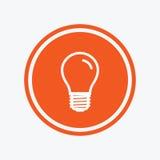 Light bulb icon. Lamp E27 screw socket symbol. Stock Image