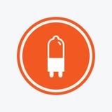 Light bulb icon. Lamp G9 socket symbol. Stock Image