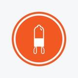 Light bulb icon. Lamp G9 socket symbol. Stock Photos