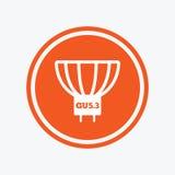 Light bulb icon. Lamp GU5.3 socket symbol. Stock Photos