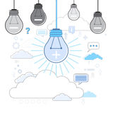 Light Bulb Icon New Idea Business Concept Thin Line Royalty Free Stock Images
