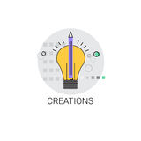 Light Bulb Icon New Idea Creation Concept Royalty Free Stock Photography