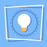 Light Bulb Icon New Idea Web Button. Flat Vector Illustration Royalty Free Stock Photos