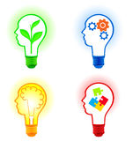 Light bulb icon set. Creative and business Stock Photography
