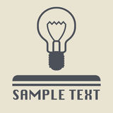 Light bulb icon or sign Royalty Free Stock Photos