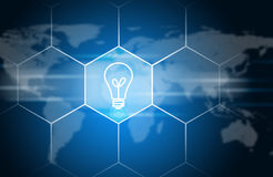Light bulb icon. Technology concept Royalty Free Stock Photography
