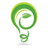 Light bulb icon. Vector illustration Stock Photos