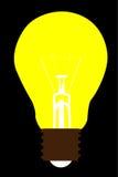 Light bulb icon vector. Illustration Stock Photos