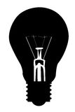 Light bulb icon vector. Illustration Stock Photography