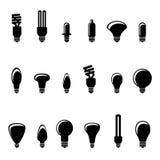 Light bulb icons Royalty Free Stock Image