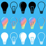 Light bulb icons Royalty Free Stock Photo