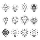 Light bulb icons - idea, innovation and inspiration Stock Photo