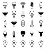 Light bulb icons - Illustration Royalty Free Stock Image