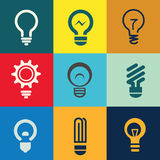 Light Bulb Icons Set Royalty Free Stock Images