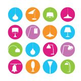 Light bulb icons Royalty Free Stock Photos