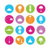 Light bulb icons Stock Image