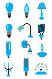 Light Bulb Icons Set Royalty Free Stock Photos
