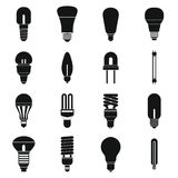 Light bulb icons set, simple style Stock Image