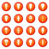Light bulb icons vector set Royalty Free Stock Image