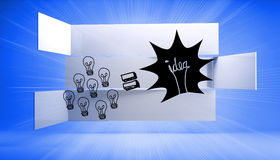 Light bulb and idea on abstract background Royalty Free Stock Photos