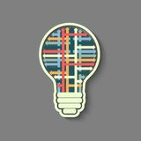 Light bulb idea Royalty Free Stock Images
