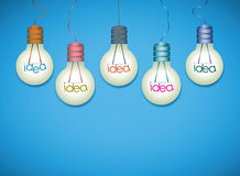 Light bulb idea background Royalty Free Stock Image