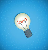 Light bulb idea background Royalty Free Stock Photo