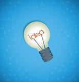 Light bulb idea background Royalty Free Stock Photo