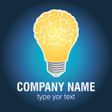 Light bulb idea with brain vector illustration Stock Photo
