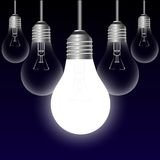Light bulb idea concept Stock Image