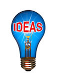 Light bulb idea concept Stock Images