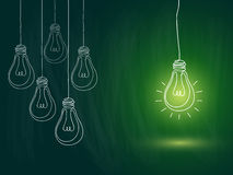 Light bulb idea royalty free illustration