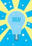 Light bulb idea concept. Creative thinking. Royalty Free Stock Photo