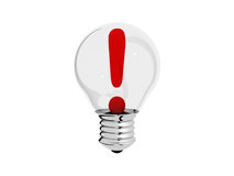 Light bulb idea concept illustration. 3d Stock Photography
