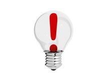 Light bulb idea concept illustration. 3d stock photography