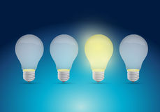 Light bulb idea concept illustration design Royalty Free Stock Images