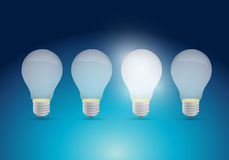 Light bulb idea concept illustration design Royalty Free Stock Photography