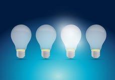 Light bulb idea concept illustration design Royalty Free Stock Photography