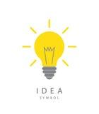 Light bulb and idea concept symbol. Vector illustration of  light bulb and idea concept symbol Stock Photo