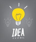 Light bulb and idea concept symbol. Vector illustration of  light bulb and idea concept symbol Royalty Free Stock Photos